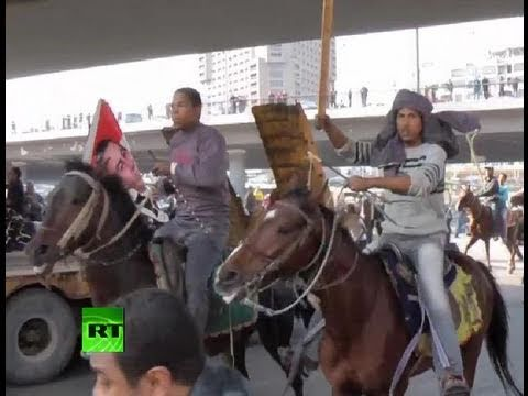 Exclusive dramatic video: Riders on horses, camels charge into crowd in Egypt
