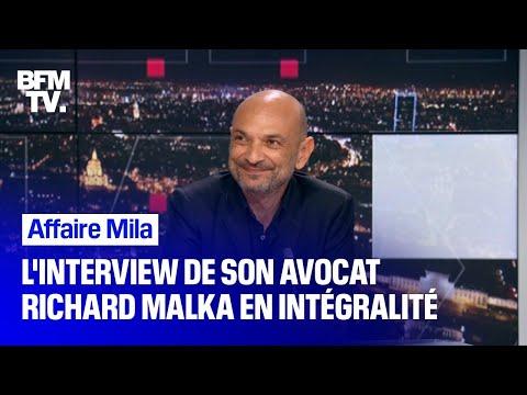 Affaire Mila: l'interview de son avocat, Richard Malka, en intégralité